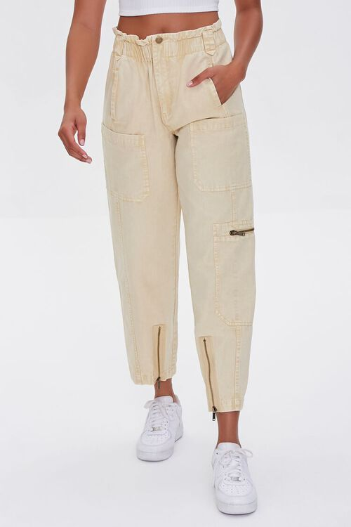 Zip-Pocket Cotton Pants, image 2