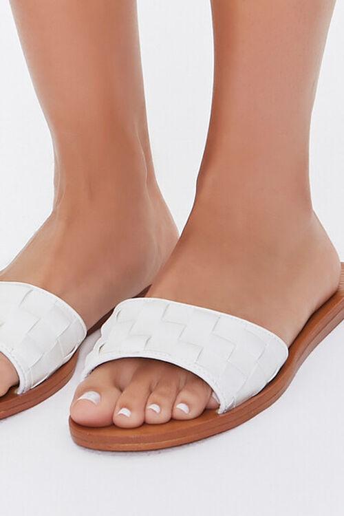 Basketwoven Slip-On Flat Sandals, image 5