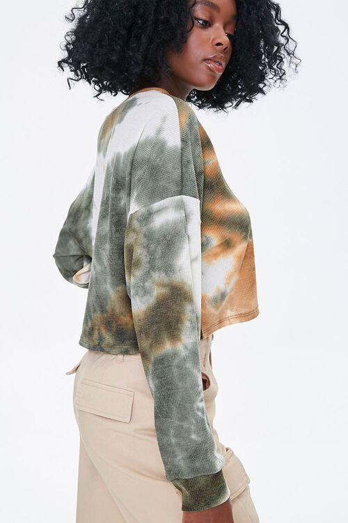 OLIVE/MULTI Tie-Dye Wash Top, image 2