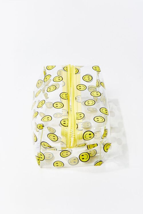 YELLOW/MULTI Smiling Face Print Pouch, image 2