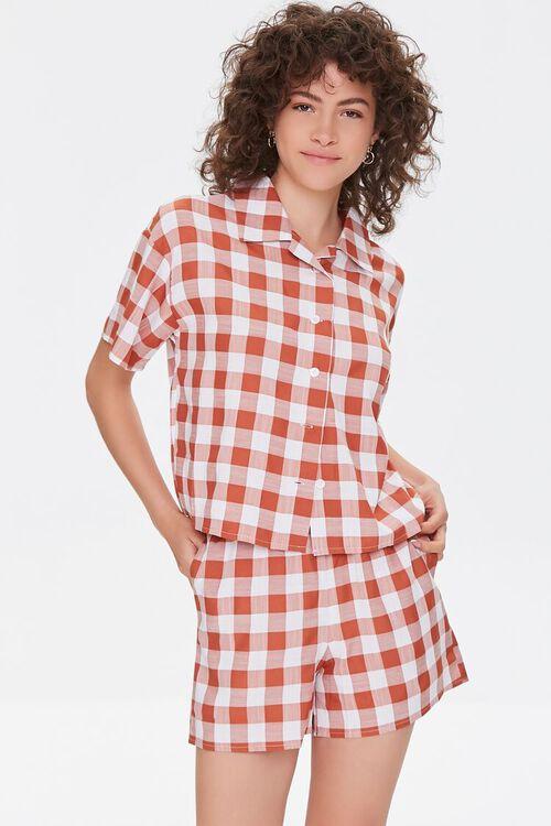 Gingham Shirt & Shorts Set, image 1