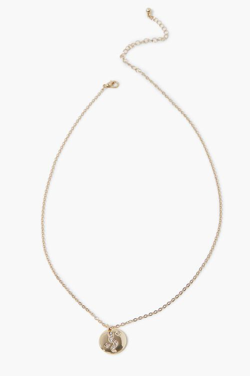 Rhinestone Disc Pendant Necklace, image 2