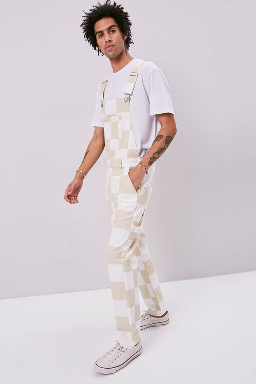 Checkered Canvas Overalls, image 5