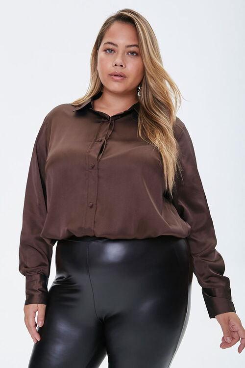 Plus Size Satin Shirt, image 6