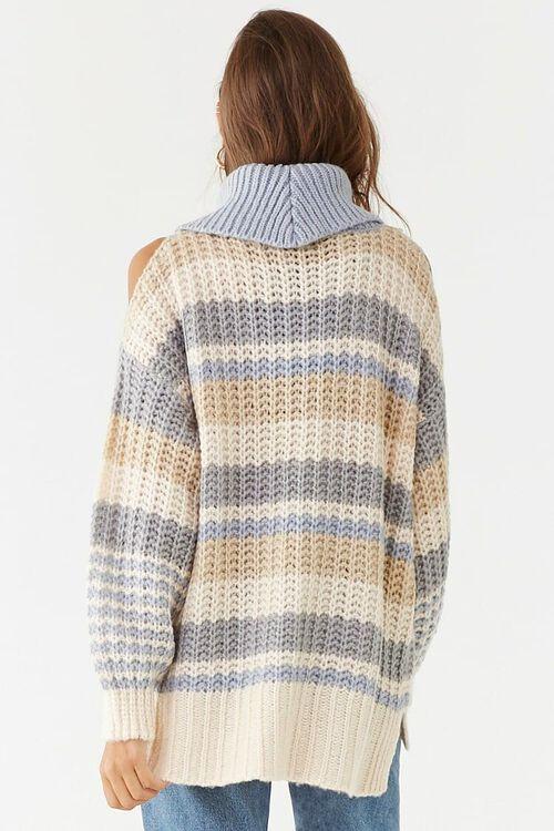 Striped Knit Turtleneck Sweater, image 3
