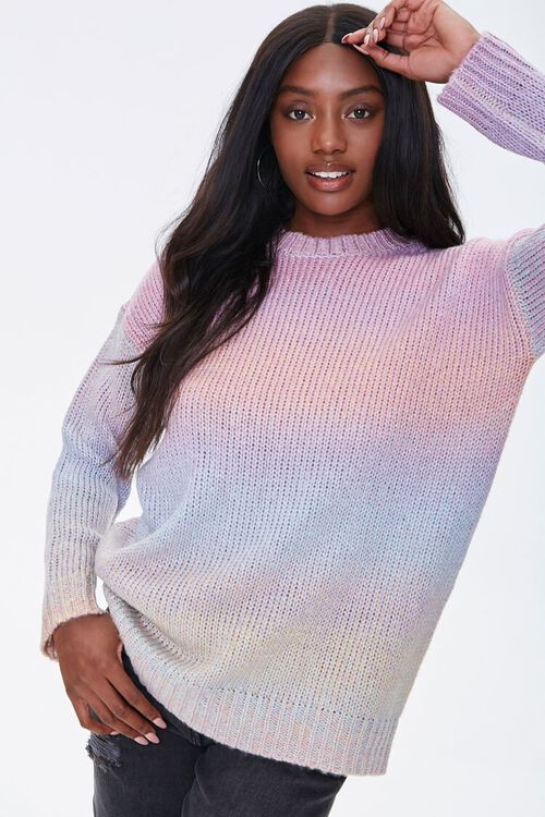 Watercolor Ribbed Sweater, image 1