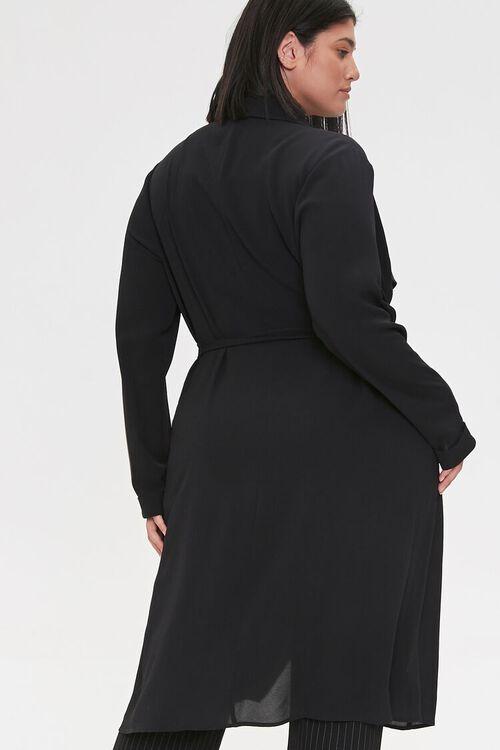 Plus Size Crepe Drape-Front Jacket, image 3