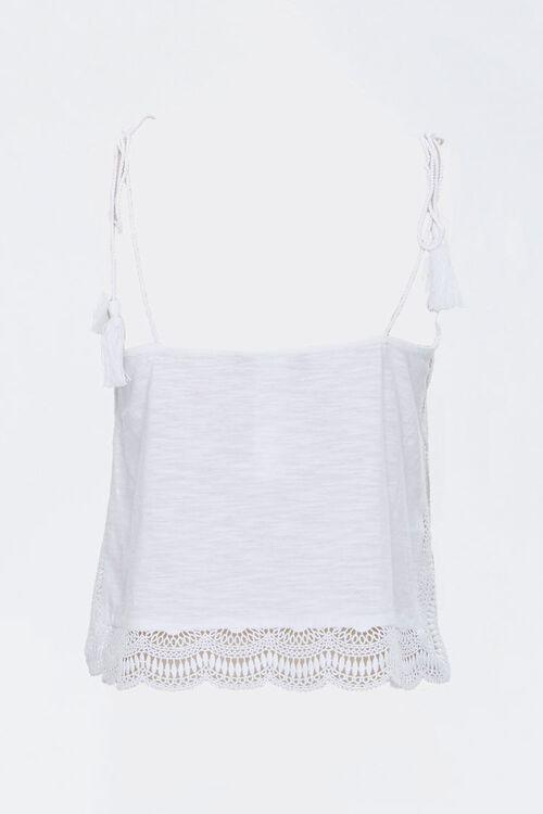Crochet-Trim Tasseled Cami, image 3