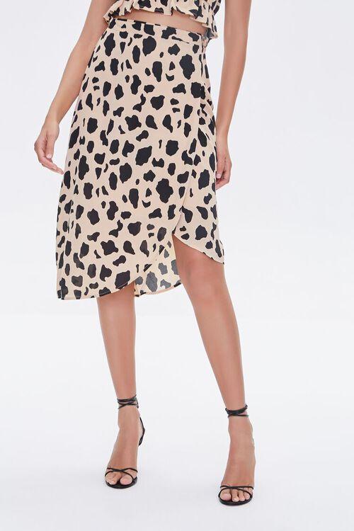 Cow Print Tulip-Hem Skirt, image 2