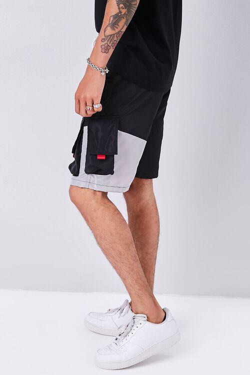 Colorblock Drawstring Cargo Shorts, image 3