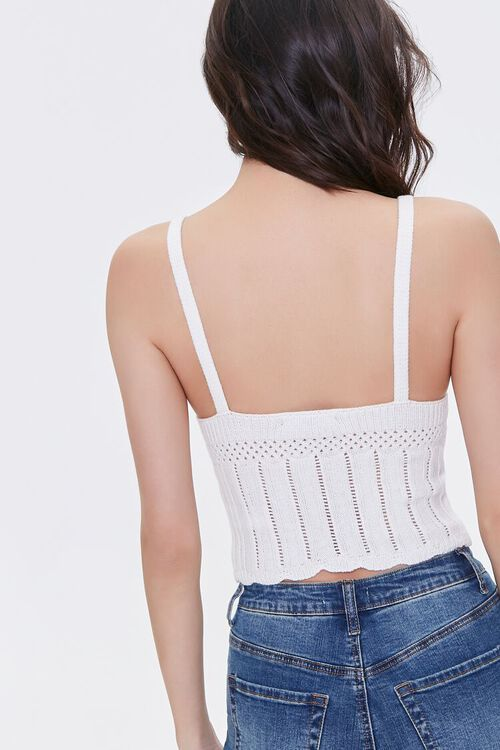 Sweater-Knit Pointelle Cami, image 3