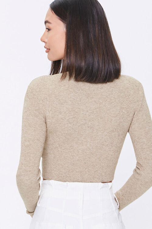 Shoulder-Pad Twist-Hem Sweater, image 3