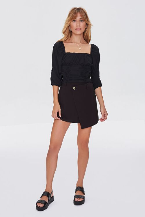 Ruched Peasant-Sleeve Top, image 4