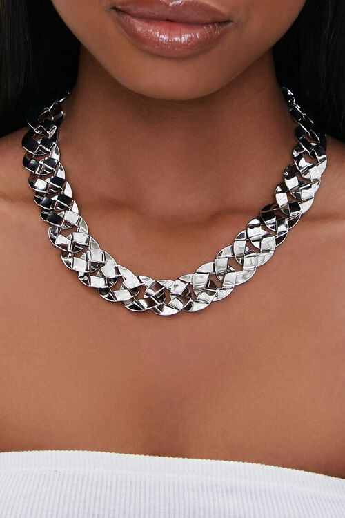 Chunky Linked Chain Necklace, image 1