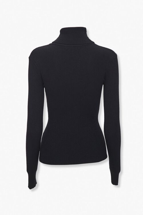 Ribbed Turtleneck Top, image 2