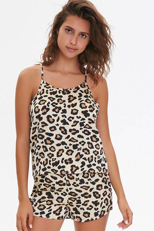 Leopard Print Cami & Shorts Set, image 6