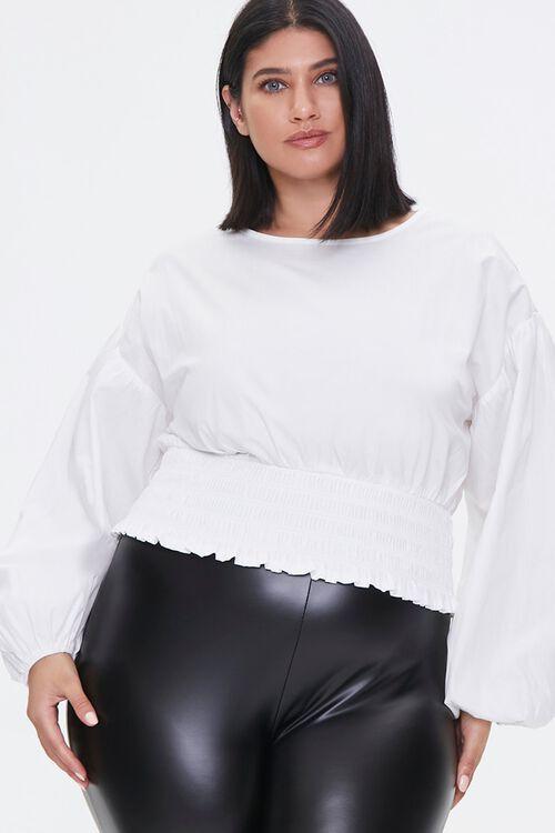 Plus Size Balloon-Sleeve Top, image 1