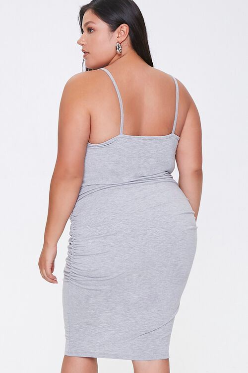 Plus Size Ruched Cami Dress, image 3