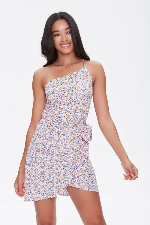 Floral Print One-Shoulder Dress, image 1