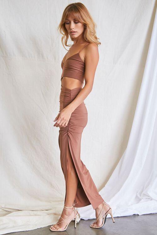 MOCHA Ruched Cutout Cami Maxi Dress, image 2