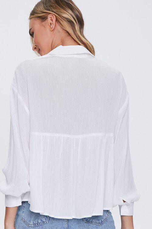 IVORY Flounce Gauze Shirt, image 3