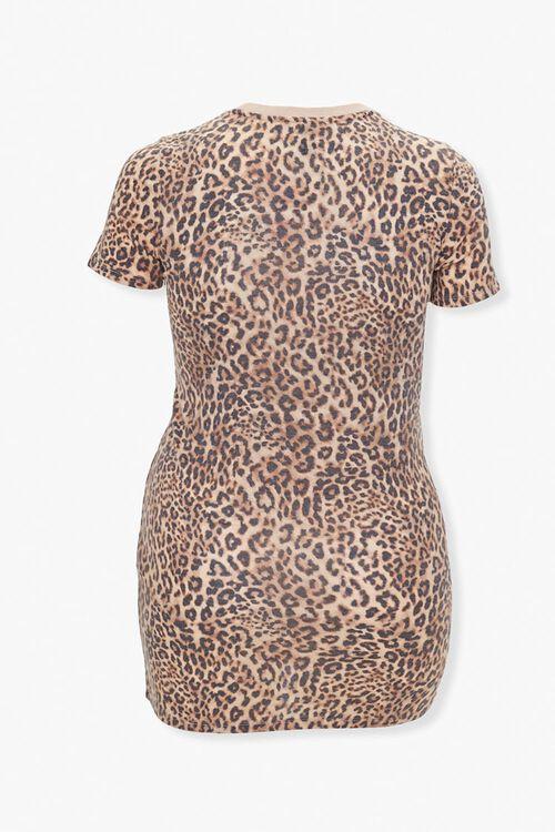 Leopard Print T-Shirt Dress, image 2