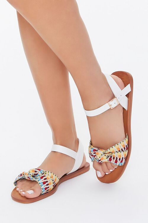 Knotted Geo Print Sandals, image 1