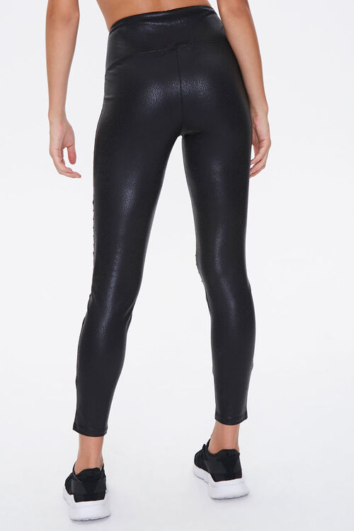 Active Faux Leather Moto Leggings, image 4
