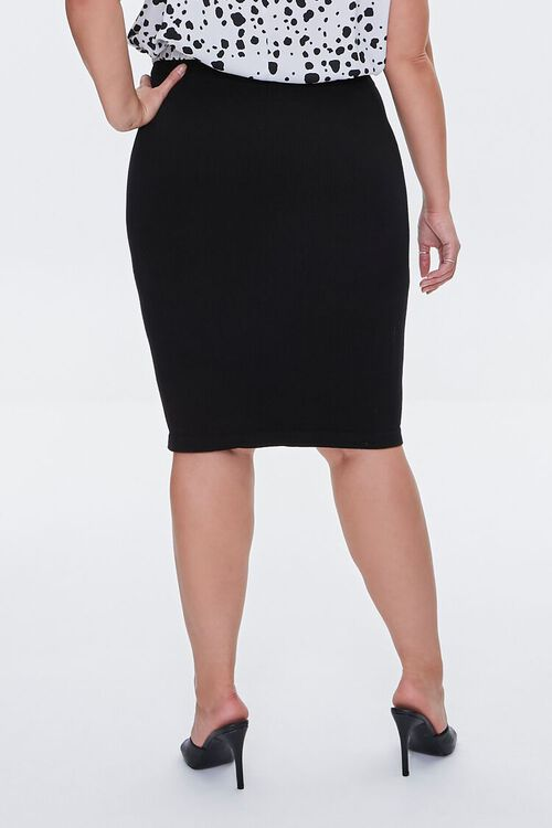 Plus Size Sweater-Knit Pencil Skirt, image 4