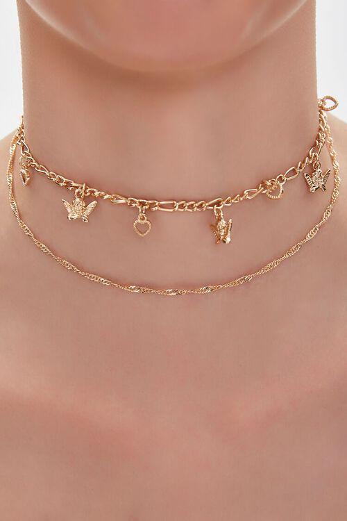 Cherub Charm Chain Choker Necklace, image 1