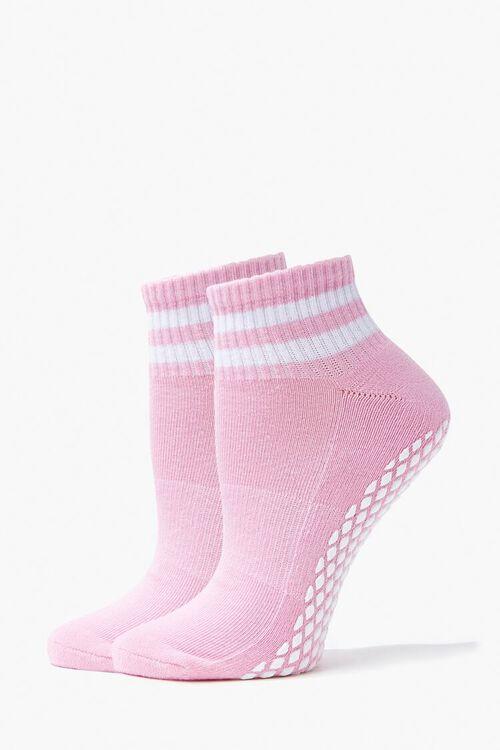 Varsity-Striped Ankle Socks, image 1