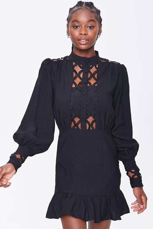 Cutout-Trim Mini Dress, image 1