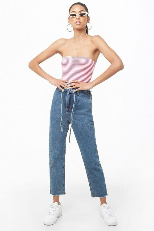 Striped Tube Bodysuit, image 4