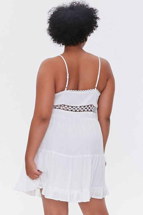 Plus Size Crochet-Trim Mini Dress, image 3