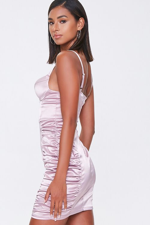 Ruched Satin Bodycon Dress, image 2