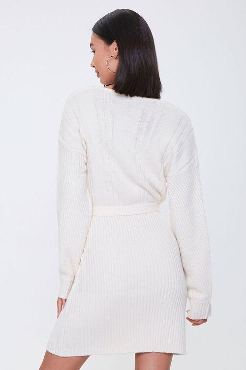 Cable Knit Wrap Dress, image 3