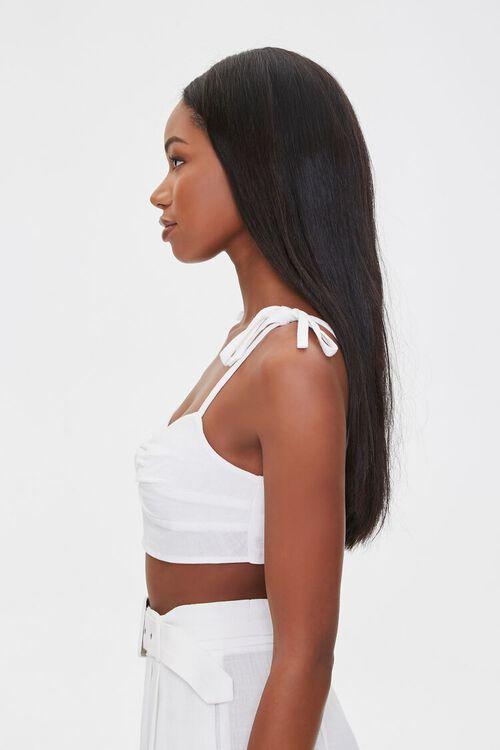 Linen-Blend Cropped Cami, image 2