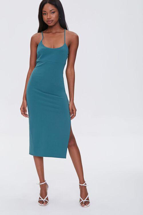 Lace-Up Midi Cami Dress, image 1