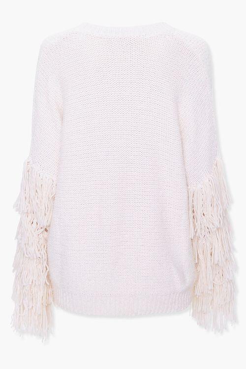 Fringe-Trim Knit Sweater, image 2