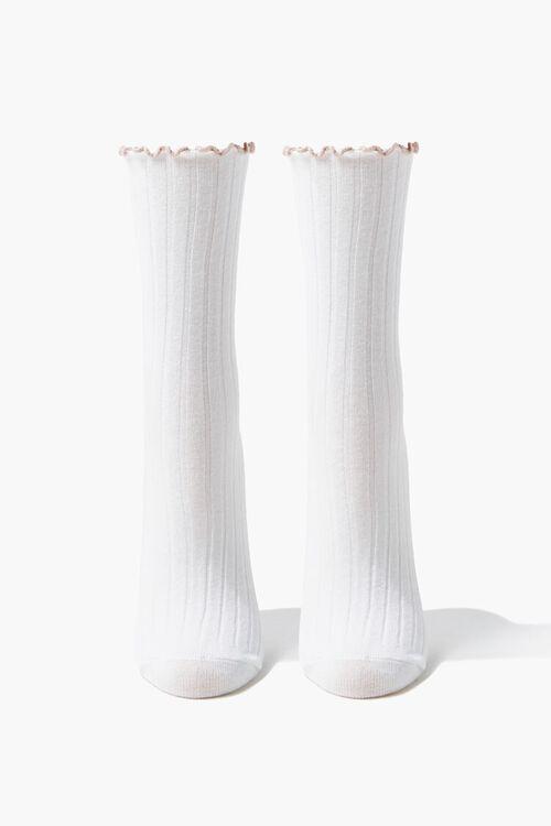Lettuce-Edge Daisy Crew Socks, image 2