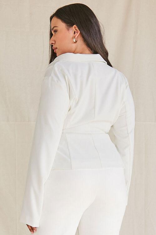 Plus Size Tie-Front Notched Blazer, image 3