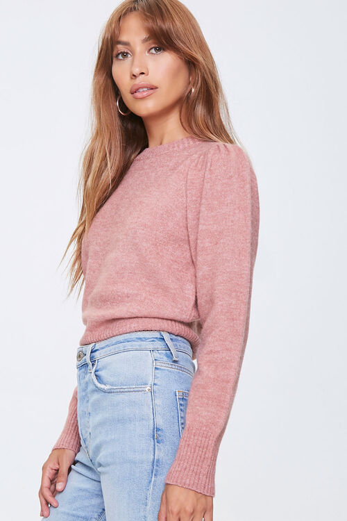 Ribbed-Trim Sweater, image 2