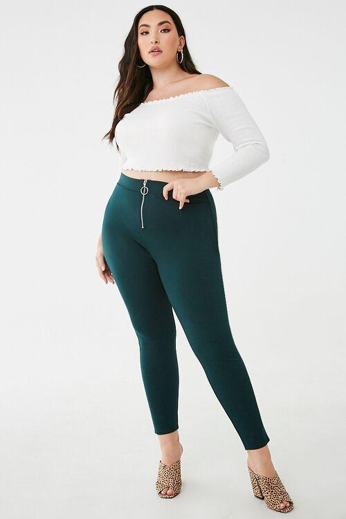 Plus Size Pull-Ring Leggings, image 5