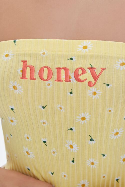 Honey Floral Print Tube Top, image 2