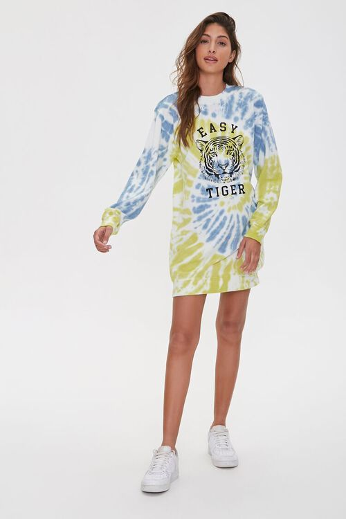 Tiger Graphic Sweatshirt Dress, image 4