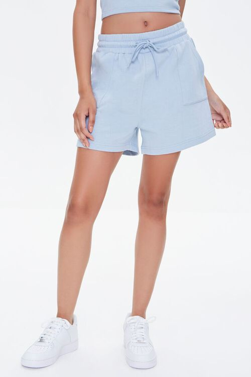 Cropped Cami & French Terry Shorts Set, image 6