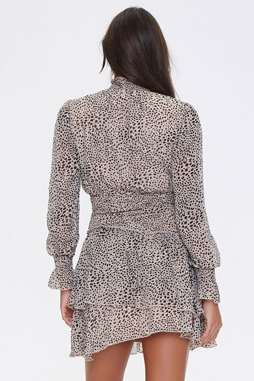 Cheetah Layered-Hem Mini Dress, image 3