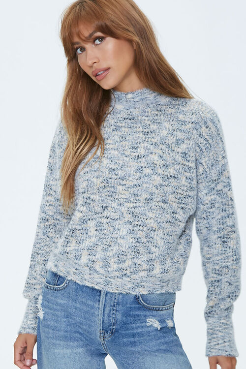 Marled Mock Neck Sweater, image 1