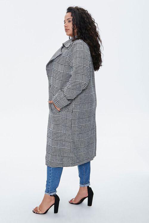 Plus Size Glen Plaid Coat, image 2
