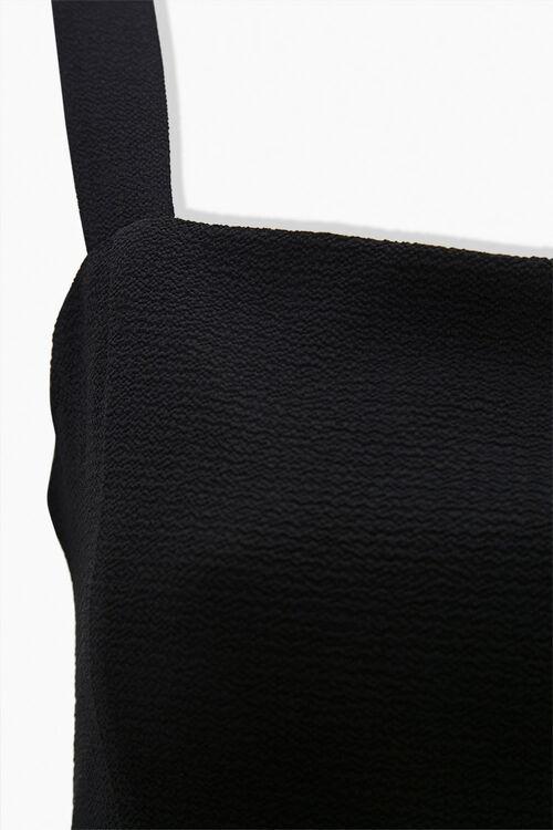 Textured Shoulder-Strap Mini Dress, image 3